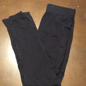Black Footless Capri Tights